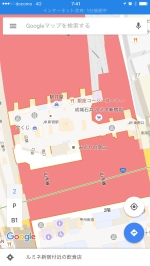 Google's indoor mapping details for Shinjuku south exit.