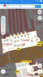 Yahoo Japan indoor map view of Shinjuku south exit. I prefer Yahoo Japan's approach of isolating and simplifying indoor map views.